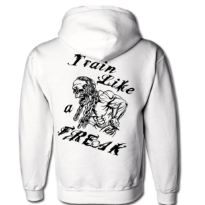 Conan Wear Sweat Jacke Train like a Freak weiss